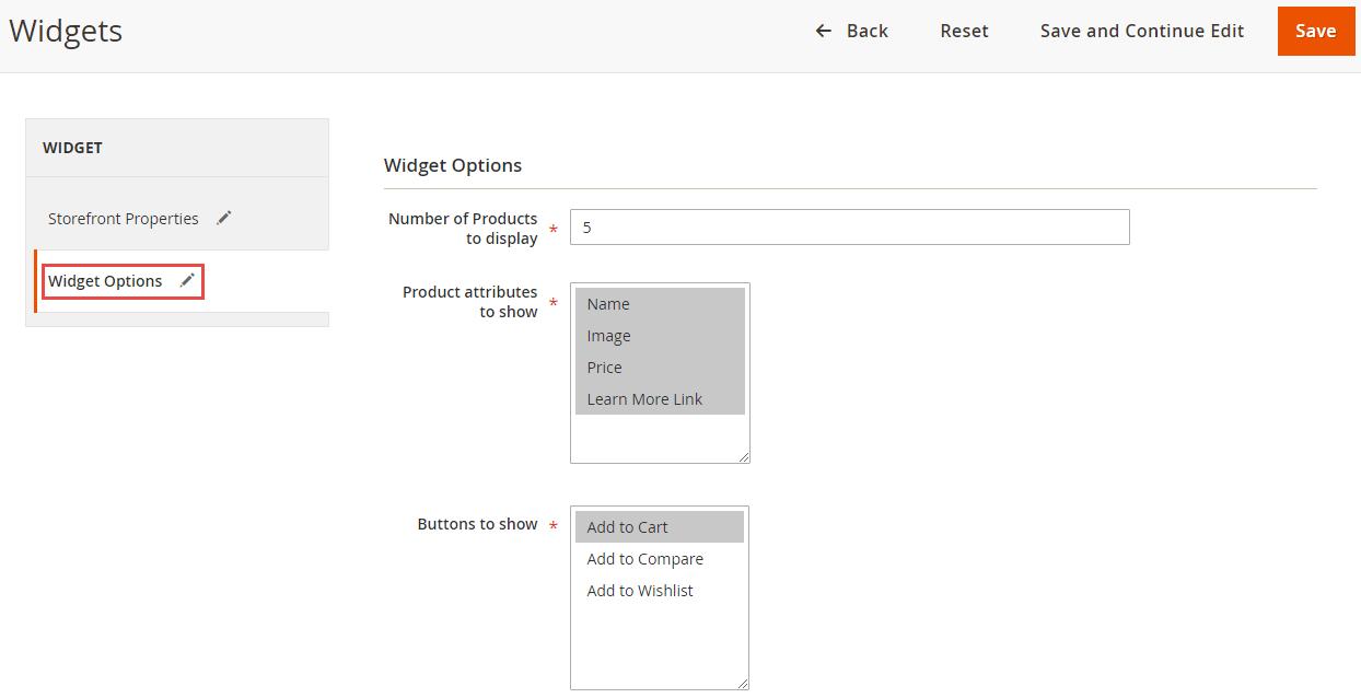 8_Widget Options