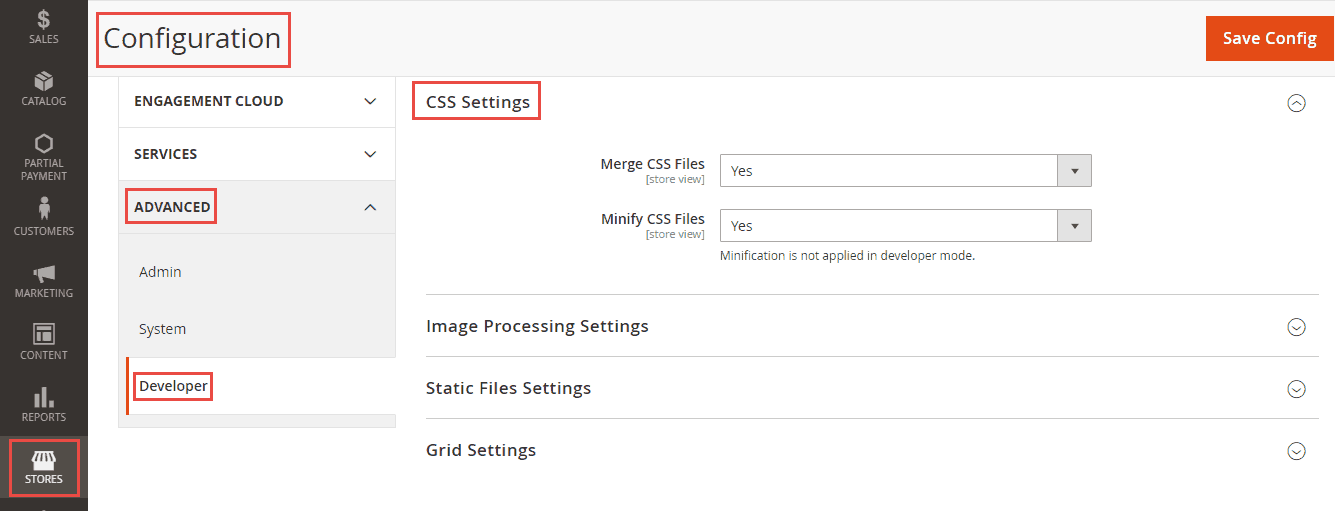 CSS Settings