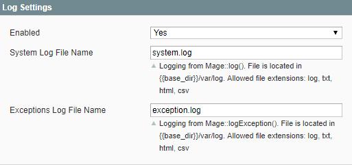 1_Log Settings