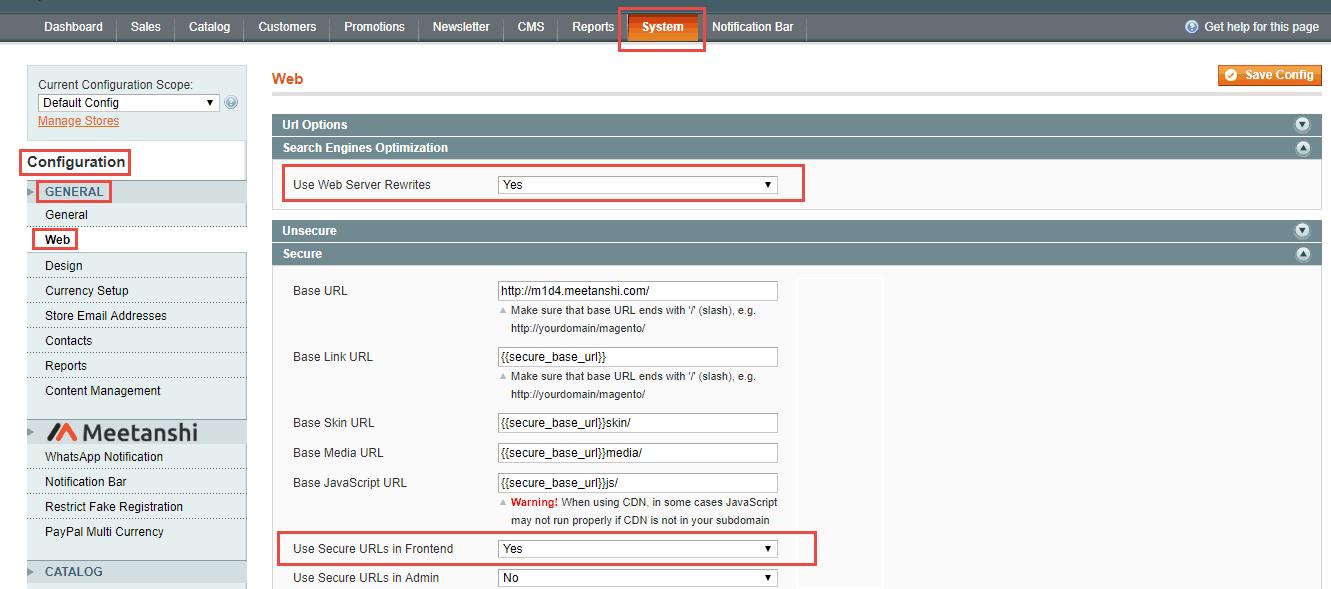 2_Magento 1_remove index.php