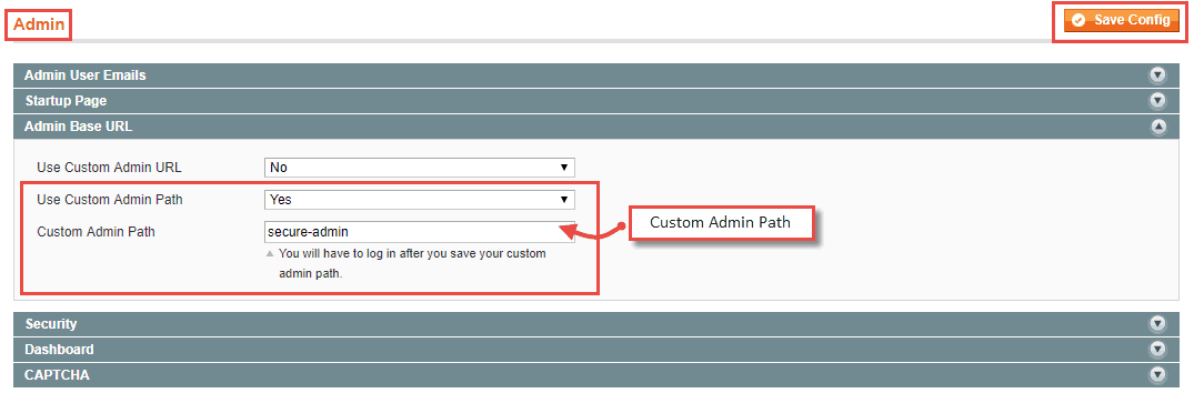 How to Change Admin URL from the admin panel in Magento