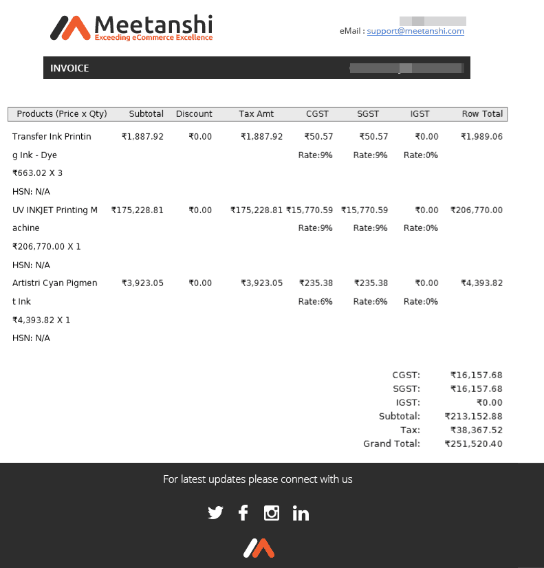 Header and Footer to Magento 2 Invoice PDF - Meetanshi