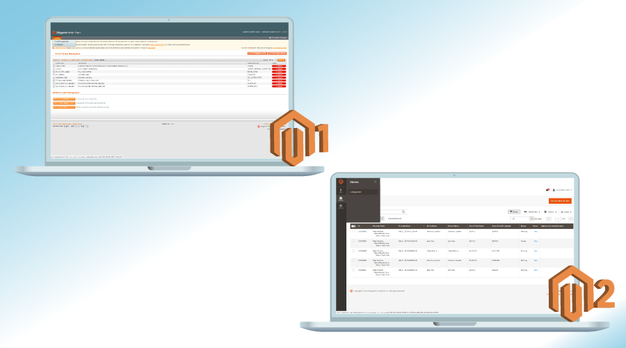 Comparison of Admin Panel for Magento 1 and Magento 2
