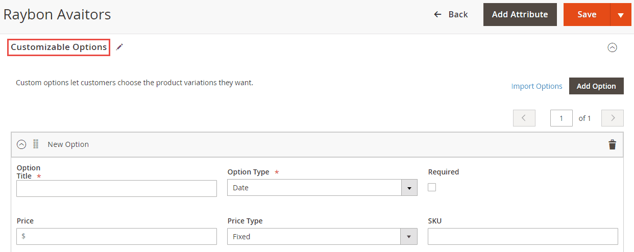 7_Customizable Options