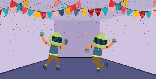 Mit Mascot Dancing