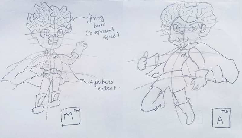 Male and female mascot versions