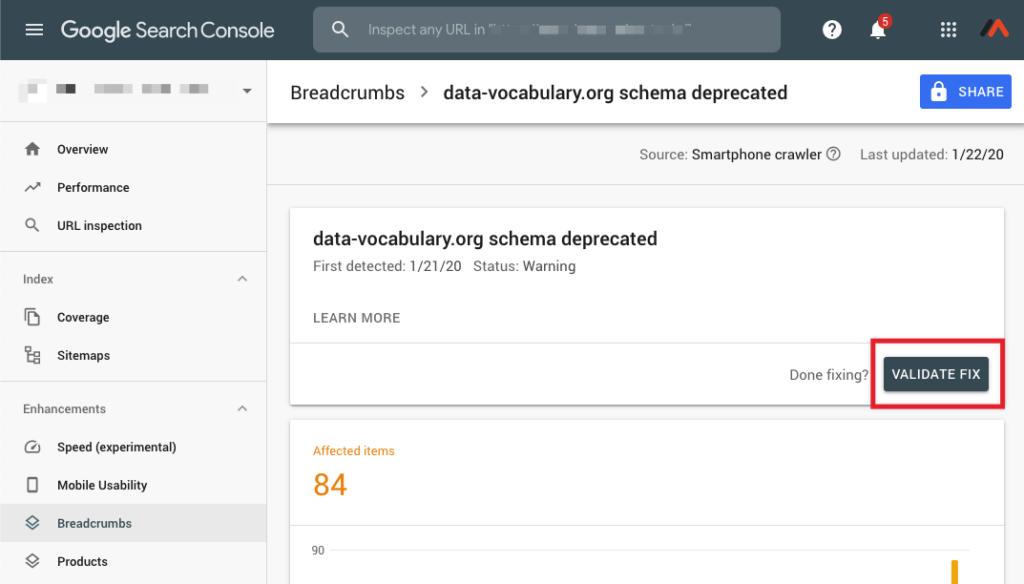 Google Search Console-data-vocabulary-org schema deprecated