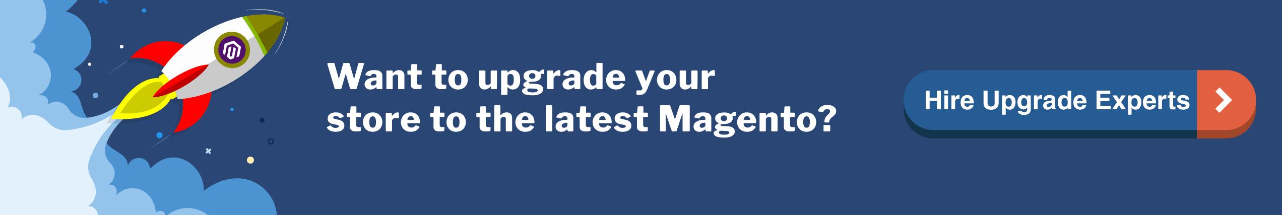 Magento Upgrade Service CTA