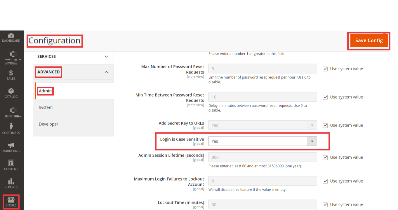 Method to change admin login to case sensitive in Magento 2