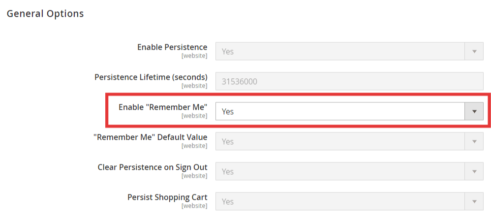 How to Enable/Disable Remember Me Functionality in Magento 1