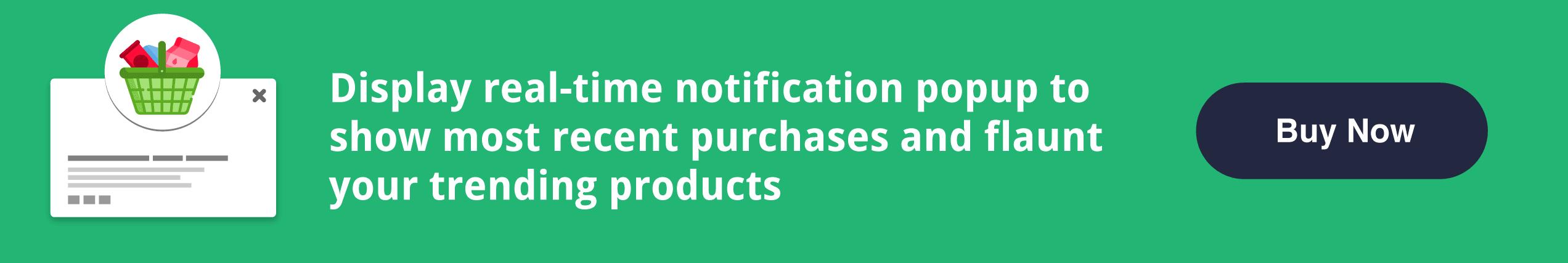 Magento 2 Recent Sales Notifications