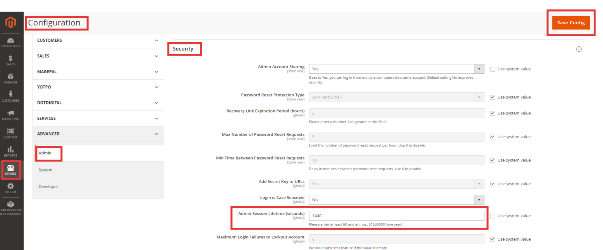How to Change Magento 2 Admin Session Time 1