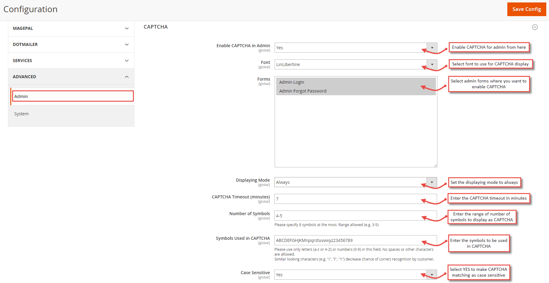 enable captcha for magento 2 admin login