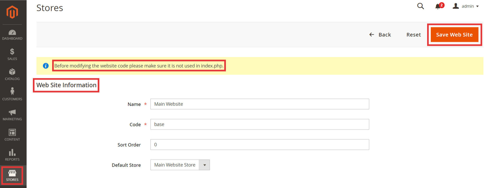 Steps to Edit store view in Magento 2