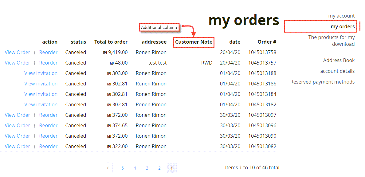 Custom Column to Customer Sales Order History Page in Magento 2