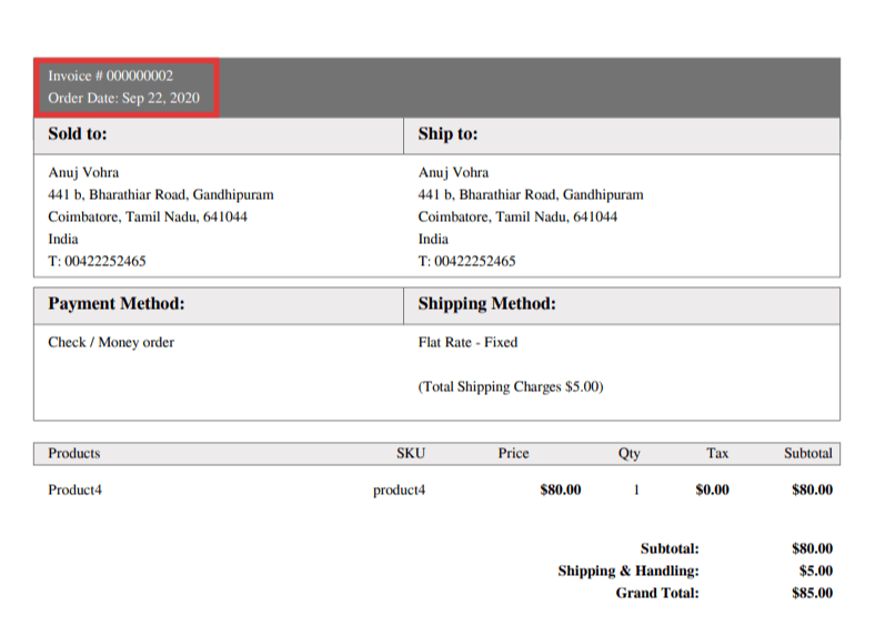 Not Show Order ID in Invoice PDF in Magento 2