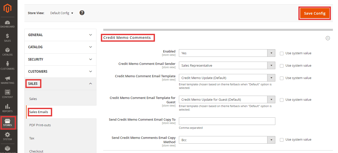 Steps to Configure Credit Memo Comments in Magento 2