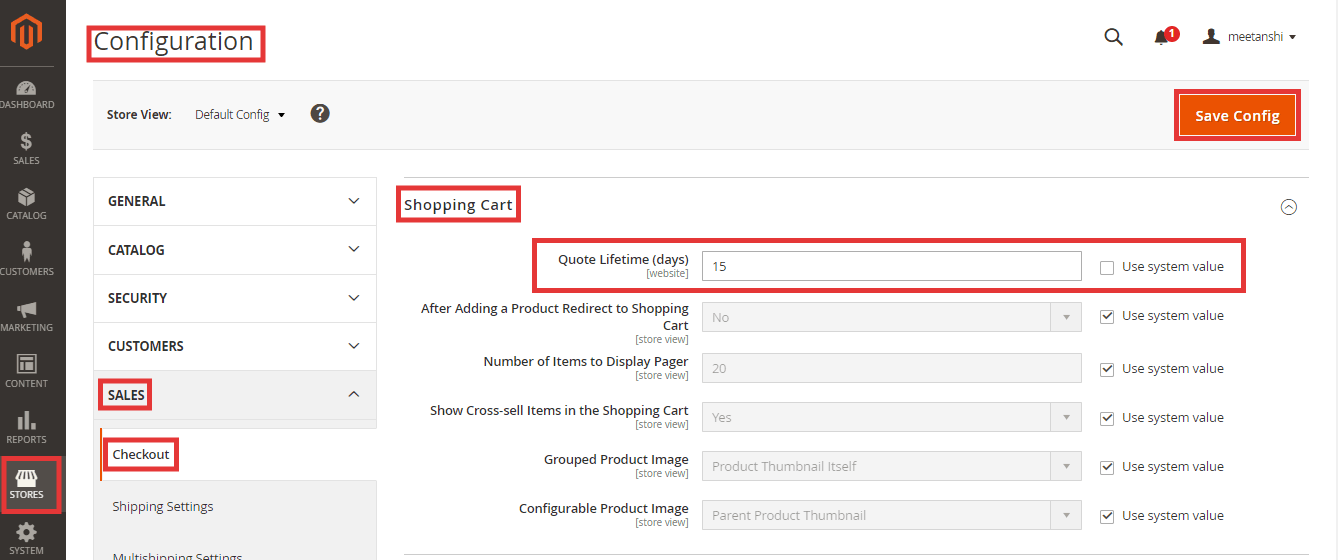 Steps to Configure Magento 2 Quote Lifetime