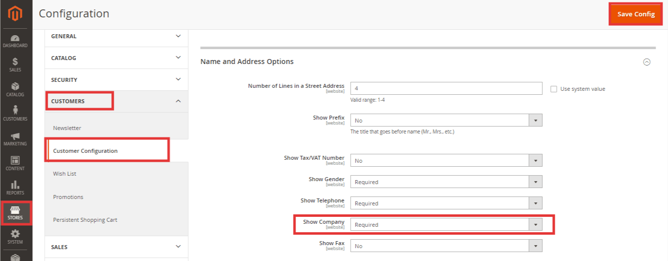 Steps to Enable Company Name in Customer Account in Magento 2