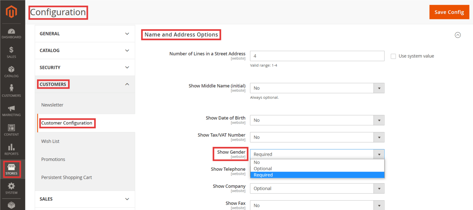 Steps to Show Gender in Customer Accounts in Magento 2