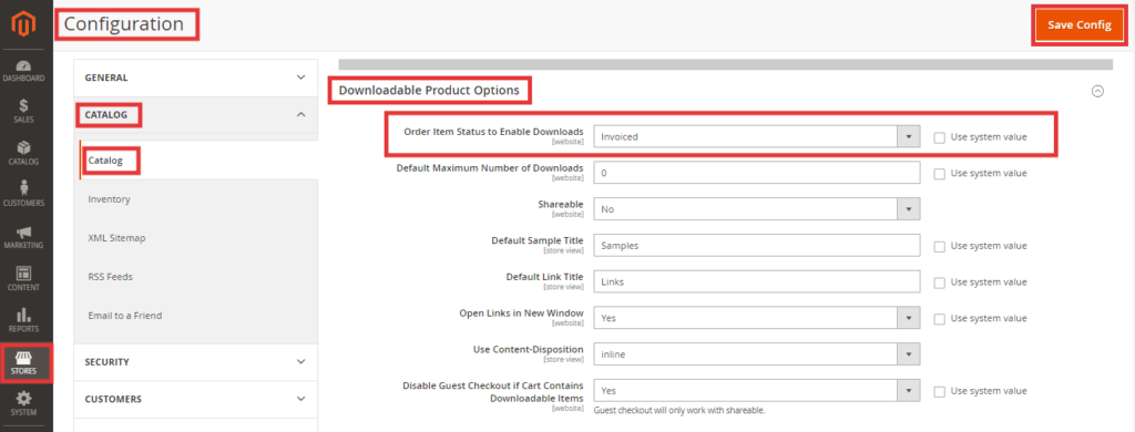 Configure Order Item Status to Enable Downloads in Magento 2