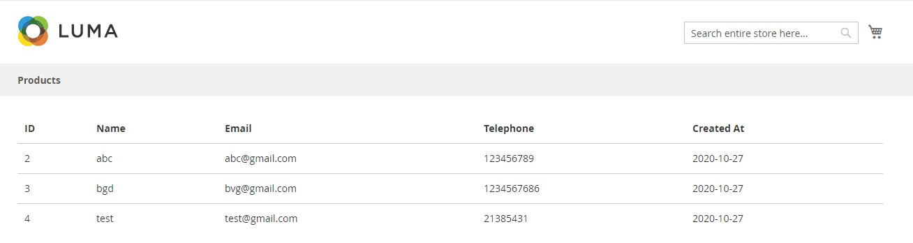How to Display Table Data in Magento 2