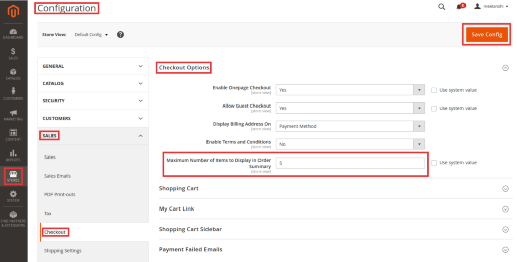 Steps to Change Maximum Number of Items to Display in Order Summary in Magento 2