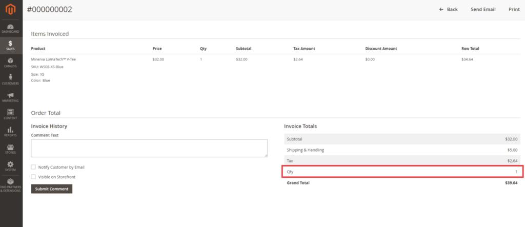 Add Quantity Field in Invoice Total in Magento 2 Admin Panel