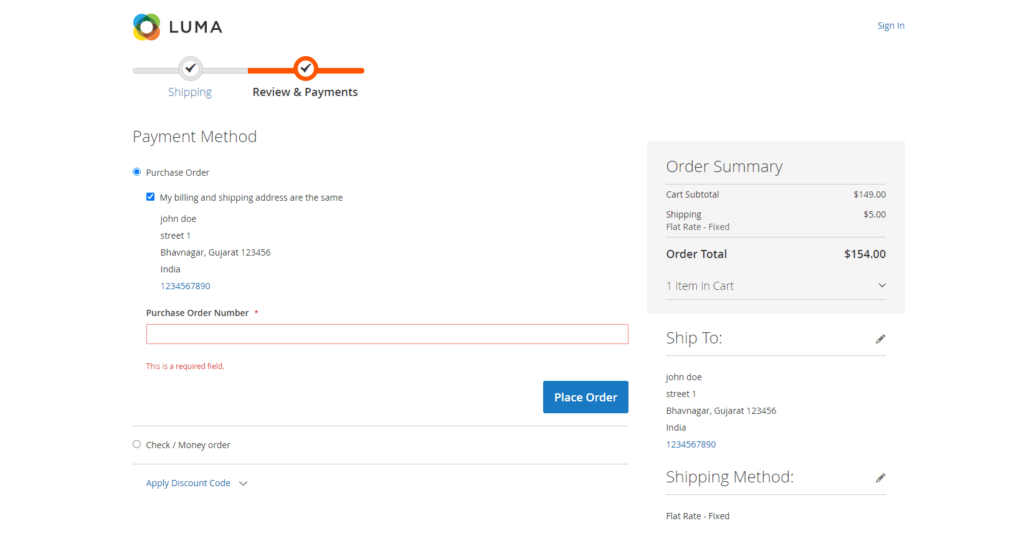 How to Make Purchase Order Number Optional in Magento 2