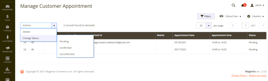 How to Add Dynamic Mass Action in Admin Grid in Magento 2