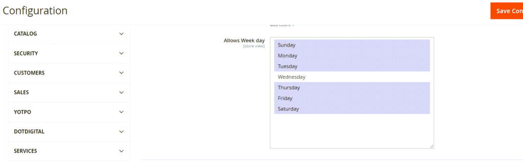 How to Get Week Days List in Magento 2 System Configuration