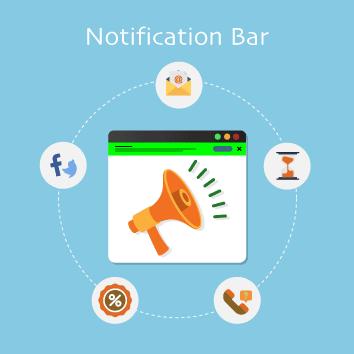 Magento 2 Notification Bar by Meetanshi