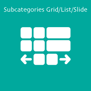 Magento 2 Subcategories Grid/List/Slide Extension