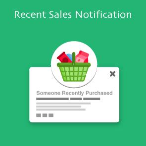 Magento Recent Sales Notification Thumbnail