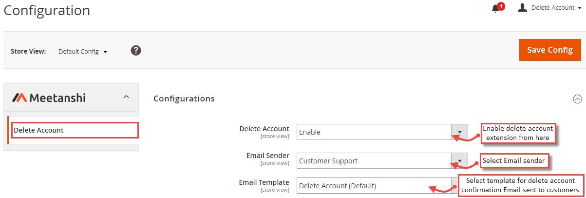 0553bea005b3 Magento 2 Delete Account
