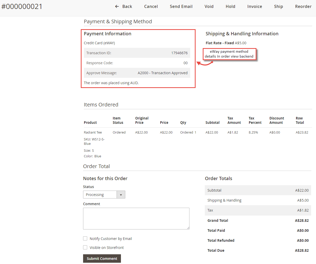 Magento 2 eWay Payments