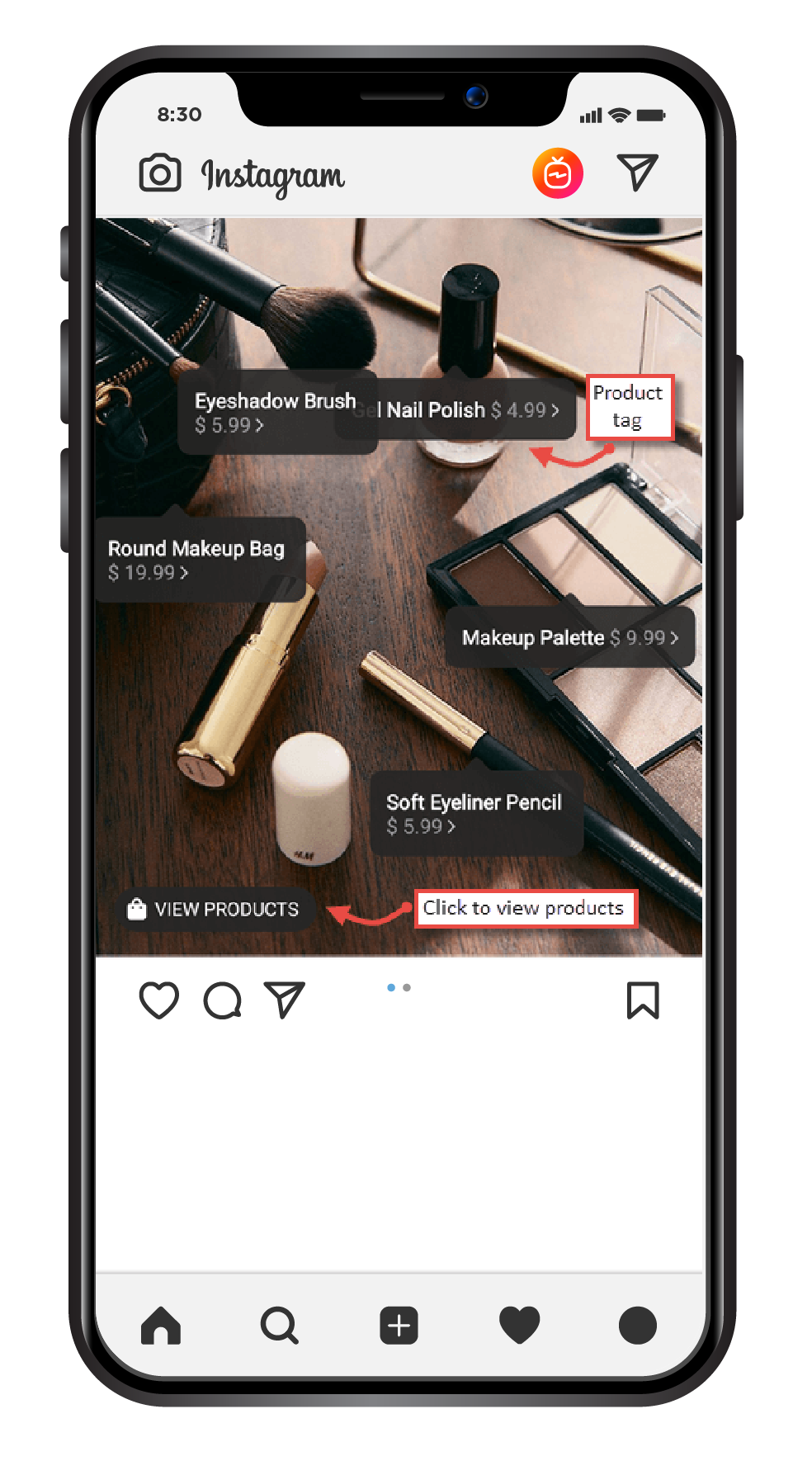 Product Tags on Instagram Image